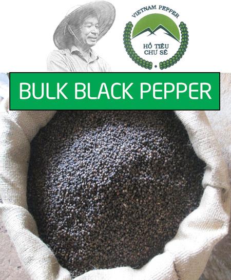Bulk black pepper wholesale
