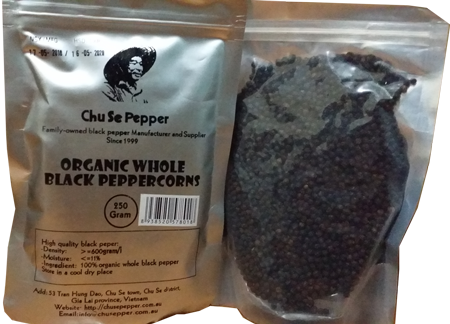 whole black peppercorns 250g two packages